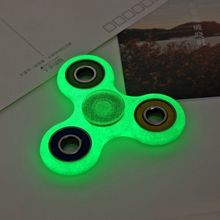 2017 New Flashing Tri-Spinner Fidget Toy ABS Plastic EDC Hand Finger Spinner lighting in dark luminescent Spinning Top beyblade