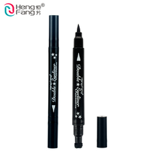 4 Styles Double-headed Eyeliner Liquid Black Eye liner Pen Star Moon Shape 2.5g Eye Makeup Brand HengFang #52244(China)