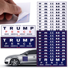 10Pcs President Donald Trump Make America Great Again Bumper Car Wall Sticker Easy Clean