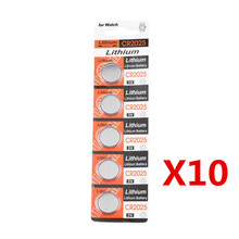 50x CR2025 CR 2025 DL2025 BR 2025 3 Volt Button Cell Battery 3V SCA-1682 Superior Storage Capacity Battery