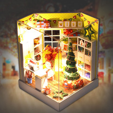 Y001 Diy Wooden Doll House With Furniture&Light &Dust Cover Miniature Dolls for House 3D Puzzle DollHouse Toy Christmas Gif