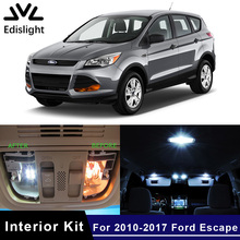 Edislight 12Pcs White Ice Blue Canbus LED Lamp Car Bulbs Interior Package Kit For 2010-2017 Ford Escape Map Dome Door Light(China)
