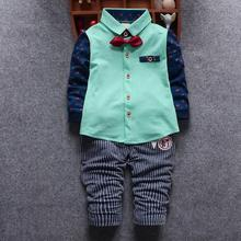 2016 Sale Kids Clothes Boys Clothing Sets Spring Autumn Toddler Boy Clothes Sets Baby Boys Wedding Clothes birthday dress(China)