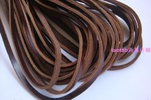 10 meter Brown cowhide rope genuine leather cowhide rope - knife handle knitted knife rope knife lanyard 5mm(China)