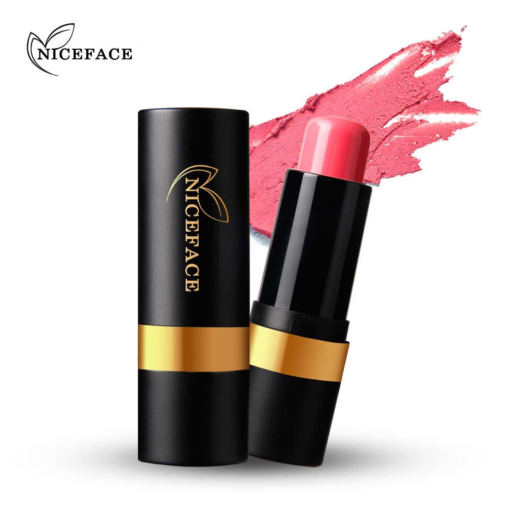 NICEFACE 1pcs Cheek Blush Stick Face Makeup Cosmetic Pink Rose Red Natural Blusher Waterproof Charming Colors Make Up 2 Colors(China)