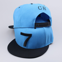 2016 new Cristiano Ronaldo black sky blue gray CR7 Baseball Caps hip hop Sports Football hat men&women Snapback cap