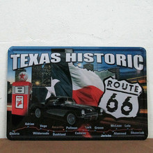 50pcs/lot Metal Sign shabby chic Texas Historic tin Signs Gift PUB Wall art Painting Poster Bar Decor E-12 Mix order 20*30 CM