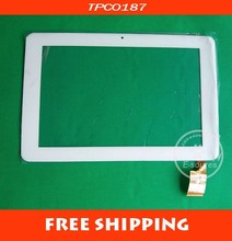"White Color 10.1"" Capacitive Touch Screen Replacement For Sanei N10 AMPE A10 TPC0187 VER1.0, 263*172mm"