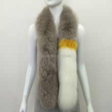 SF0050 Australia New Arrival Haining Fur Fox Women Scarf Luxury Fur Stole Wholesale and Retail Real Fur Scarf()