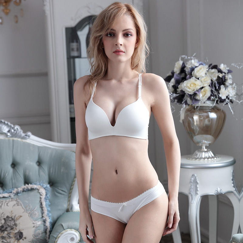 New Fashion Brand Seamless Lace Bra Set Women Underwear Sexy Push Up Bras and Lace Butterfly Strap Panty Set BS289 4