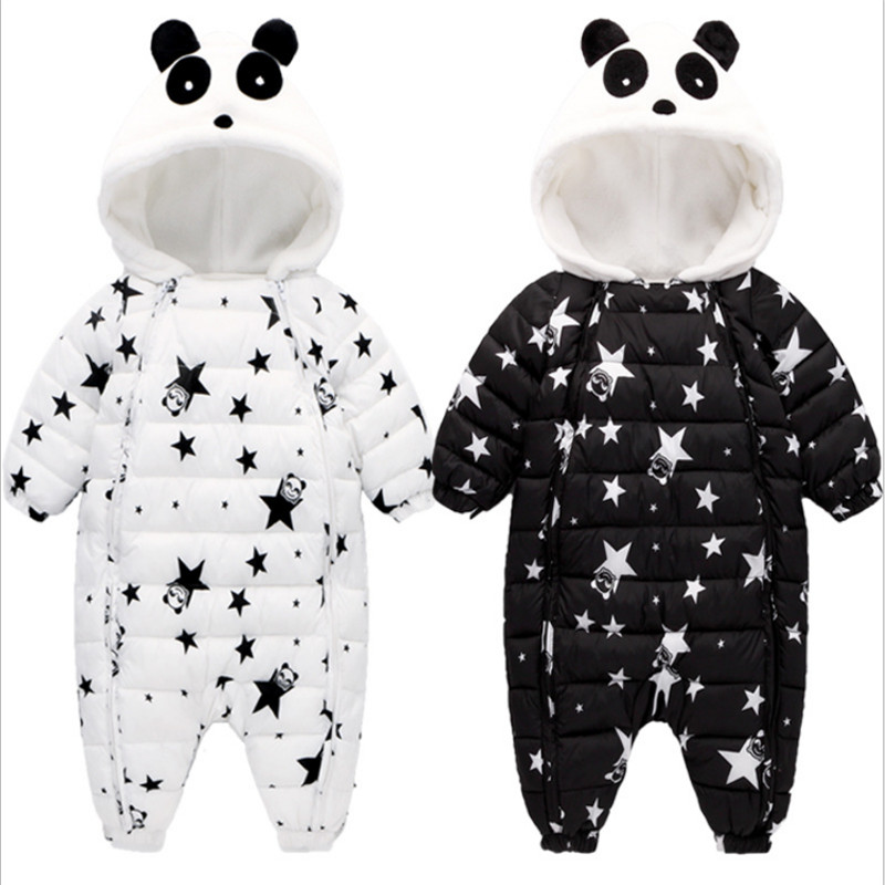 Romper 2017 Baby Winter Romper Toddler Star Thicker Clothing Newborn Girls Suits Full Sleeves Warm Baby Clothes Baby Born Romper<br>