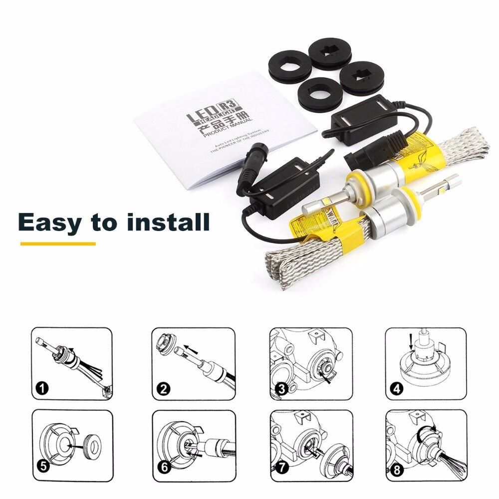 1 pair 80W 9600lm H8 H9 H11 LED Car Automotives Headlight kit bulb led Fog lamp DRL with Fan Play &amp; Plug H7 HB3 HB4 9005 9006<br><br>Aliexpress