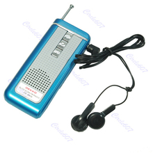 Portable Belt Clip Auto Scan FM Radio Receiver With Flashlight Earphone