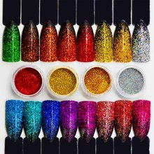 Shine Holographic Powder for Nails Art Laser Holographic Glitter Powder Tinsel for Nails Dust Grinding Holo Dipping SF2038