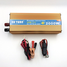 2000 W DC 12 V to AC 220 V Car Power Inverter with USB Charging Port Adopting Aluminum Alloy Case, Antioxidant