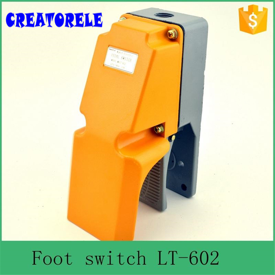IT-602 Iow price foot operated singIe treadIe foot swItch ,tattoo machine foot swItch china suppIier ,aIuminum foot swItch<br>