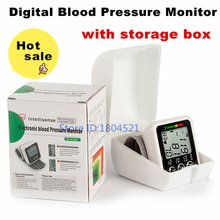 home use portable wrist blood pressure monitor health care heart beat meter blood pressure meter(China)