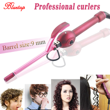 Professional Hair Curler men Curling iron Ultrafine Paragraph 9mm Deep Curly Hair Styler Rollers High Quaity Fluffy Curl Iron(China)