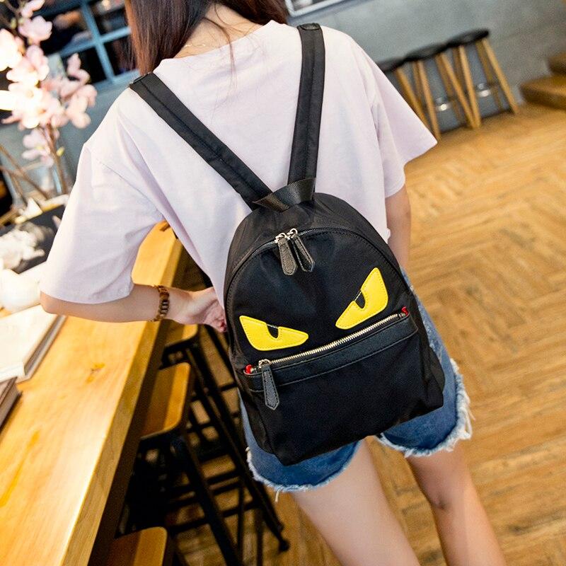 Eyes monster backpack women men child little satchel waterproof nylon school bags delighted parental daypack<br>