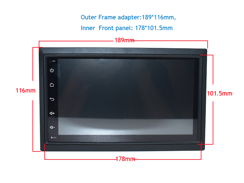 android universal 7inch touch car dvd car radio car gps navigation (2) -