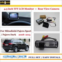 "Auto Rear View Camera Back Up + 4.3"" LCD Monitor = 2 in 1 Parking Assistance System - For Mitsubishi Pajero Sport / Pajero Dark"