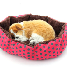 Pet Products Cotton Pet Dog Bed for Cats Dogs Small Animals Bed House Pet Beds Soft Round High Quality Cheap Freeship(China)