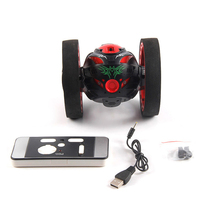 Mini RC Car Cars Bounce Car 2.4GHz with Flexible Wheels Rotation LED Light Control Robot Toy for Gifts(China)