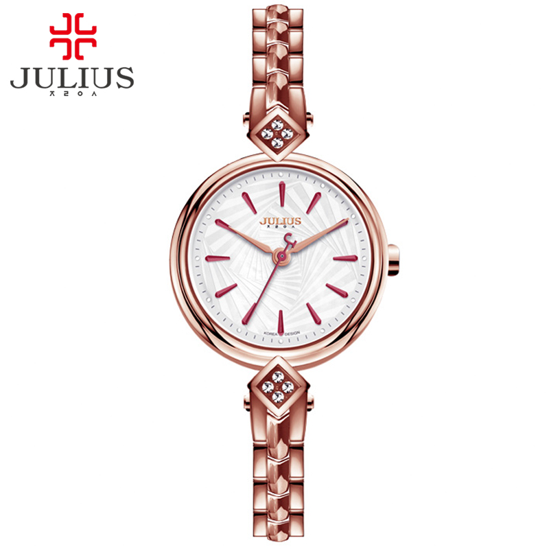Top Brand Julius Metal Watch Bracelets Relojes De Mujer De La Marca De Lujo 2017 Women Clock Shell Dial Women Dress Hour JA-881<br>