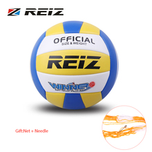 REIZ Official Size 5# PU Volleyball Bright Color Match Volleyball Indoor & Outdoor Training Ball With Free Gift Net Needle New