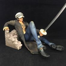 7'' New Anime Action Figure ONE PIECE P.O.P Zero Trafalgar Law Injured Sit Ver 18cm PVC Model Collector Decoration Fighting Doll(China)