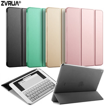 Case for New iPad 9.7 inch 2017, ZVRUA YiPPee Color PU Smart Cover Case Magnet wake up sleep For New iPad 2017 model A1822 A1823