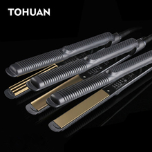 Professional Electronic Hair Straighteners Tools Straightening Corrugated Iron 110-220 V Corrugation Crimping Chapinha Flat Iron(China)