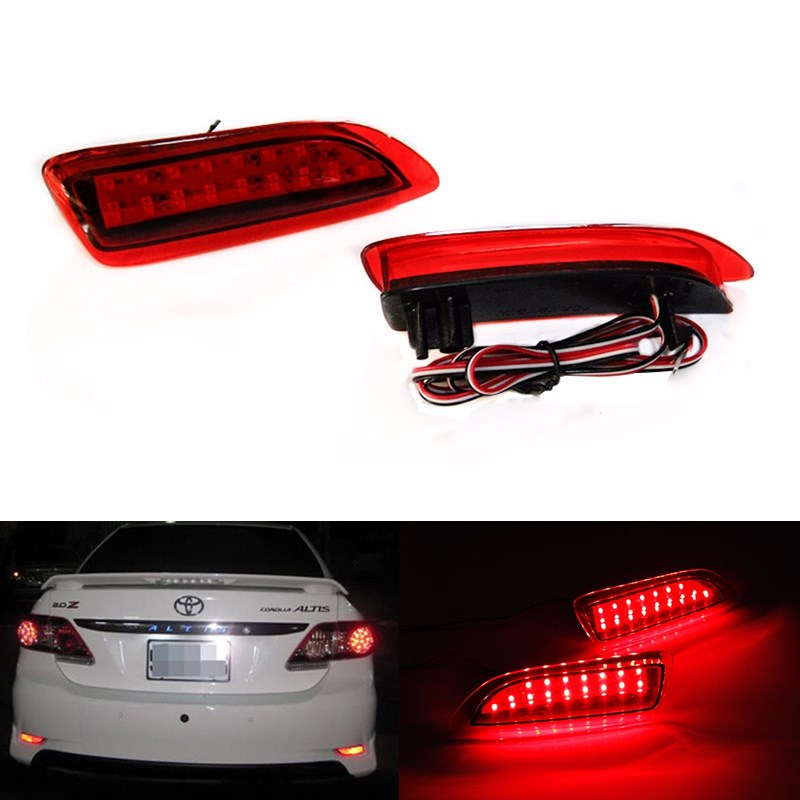 2Pcs LED Fog BrakeTail Light Round Lantern Reflectors Lamp Rear Bumper Reflector Light for 2011-2013 Toyota Corolla Lexus CT200H<br><br>Aliexpress