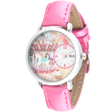 Romantic Fairy Tale Clay Horse Girls Quartz Watches Sweet Pink Leather Wristwatch Original Korean Brand Handmade Clock NW823