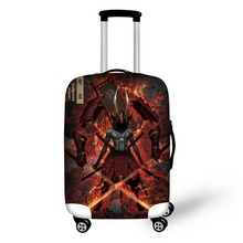 Prevent the impact to prevent scratches Ghost The samurai pattern luggage case travel must be soft and durable non-slip