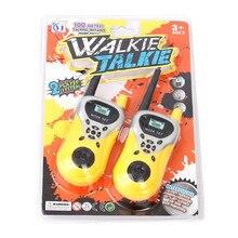 1Pair Handheld Toy Walkie Talkie Children espia Game Interactive Toy kid Cute Kid Radio Relogio Interphone juguet para los ni os