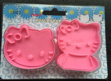 Cake Cutter 5 Set for hello Kitty Cookie Cutters Sugarcraft Cake Plastic Decorating Tool Cat Kitten baking fondant tool Biscuit