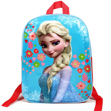 2017 New Girl and boy's School Bags Cartoon Waterproof Printing Elsa princess Spiderman Hello Kitty Backpack for Children