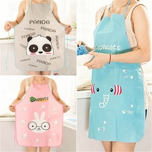 Hot ! Nice Mother Gift Mommy Love Cute Cartoon Waterproof Apron Kitchen Restaurant Cooking Bib Aprons