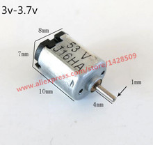 2pcs/lot  K10 3-3.7V K10 Mini DC Motor Low Speed For DIY Mini fan Motor Scientific Experiments