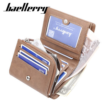 Famous Brand Men Wallet with Coin Pocket Man Short Wallets Male Purse Zipper Hasp Clutch carteira masculina MWS285