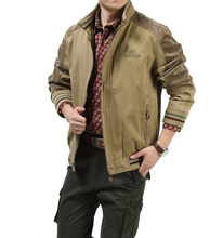 Big size M - 5XL 2015 European men  casual brand 100% cotton army green jacket coat man spring khaki jackets casaco #609
