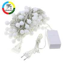 Coversage 8M 40 Led Festoon Christmas Tree Garland String Xmas Decoration Ball Led Curtain Navidad Curtain Fairy Lights Holiday