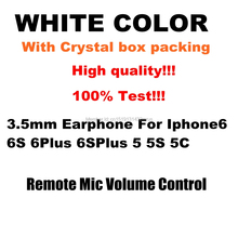 wholesale 100pcs/lot 3.5mm in-ear earphones Headset Earphone For iPhone 5 5S 5C 6 6 Plus for air mini mp3 mp4