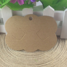 Wholesale Hot 2015 New Blank Kraft  Hair Clip  Hair band Card Jewelry Display Card If Custom Logo Will Cost Extra
