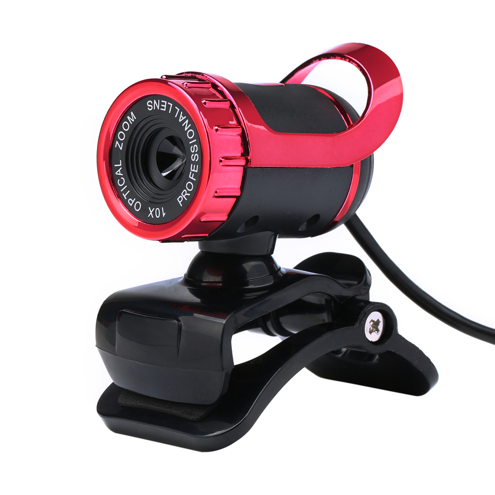 Red 12.0MP High Definition Webcam 640x480 USB Wired Network Camera w/ Built-in Mic for Yahoo Messenger Skype PC Laptop(China (Mainland))