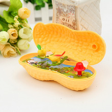 2017 New Arrival Funny Plastic simulation Peanut Music Box Home Decoration Toys Novelty Gag Toys For Children Kids Audlt