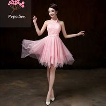 white bridesmaid dresses short dress for wedding guests sister party formal dress prom dresses ROM80050