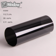 "Black nano ceramic film 5% VLT car window film 60"" x 100'/ 1.52x30m roll(China)"