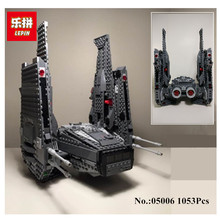 In-Stock Lepin 05006 1053Pcs Kylo Ren Command Shuttle Building Blocks Educational Toys Compatible with 75104